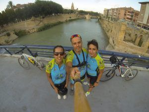 Puente Manterola en Murcia con Lourdes y Estefanía