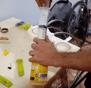 Tubelizado de rueda - Líquido sellante