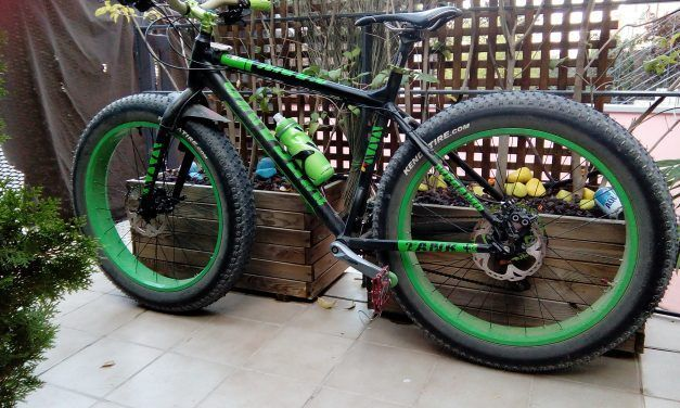 Va llegando el frío y estreno nueva bici fat bike para el barro y la nieve invernal por Mikel
