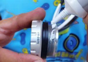 Limpieza y engrase del eje pedalier - Engrasar cazoleta