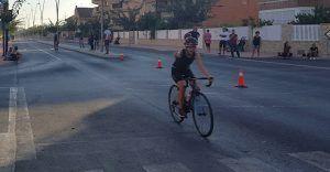 Patricia Carmona en la Triatlón de San Javier TriWhite