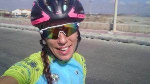 Patricia Carmona preparando su primera triatlón