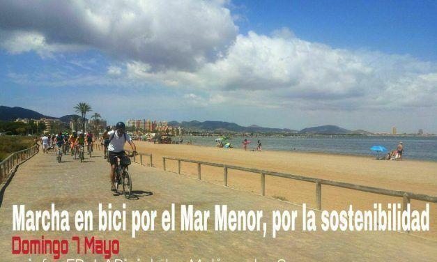 Marcha en bici por el Mar Menor, por la sostenibilidad