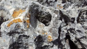 Roca caliza con formas singulares